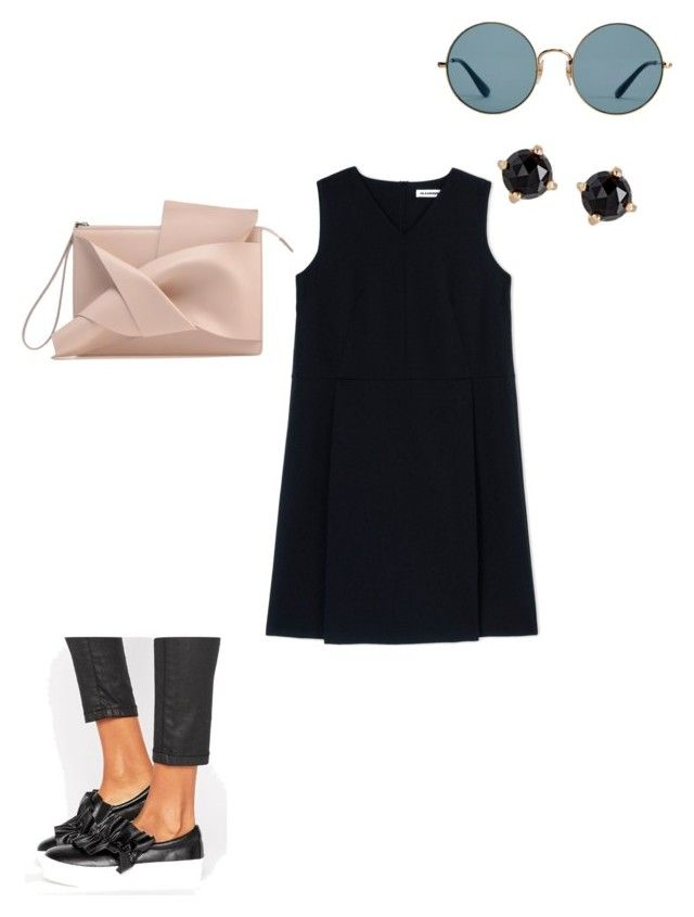 """Untitled #106"" by czirokpanna on Polyvore featuring Ray-Ban, Missguided, Jil Sander and Irene Neuwirth"