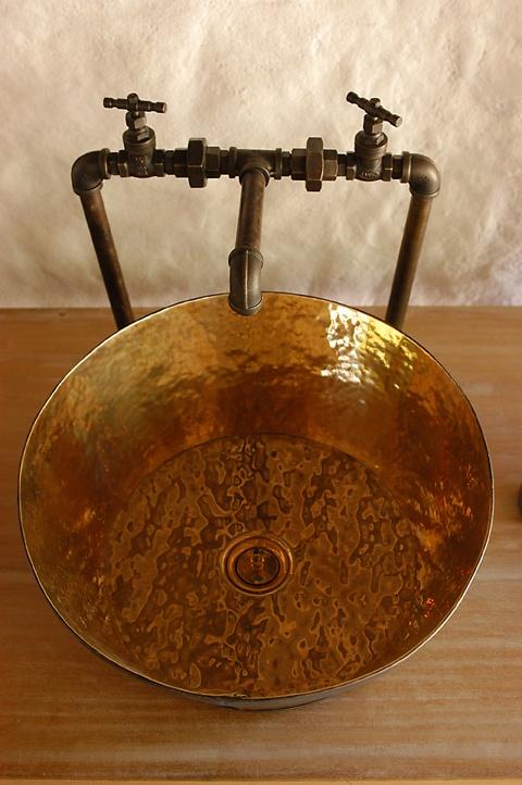 Rustic design for a wash basin at Six Senses Ninh Van Bay, Vietnam