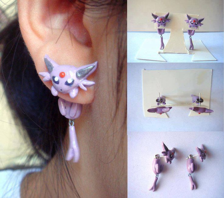 Clinging Pokemon Earrings :3 - Imgur. I want these so bad it hurts. @Remy Steiner Steiner Beauregard omg omg omg