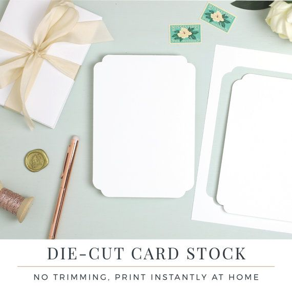 12 best everly wedding card stock images on pinterest wedding create your own shaped wedding invitations with your home printer our colette invitation paper is stopboris Gallery