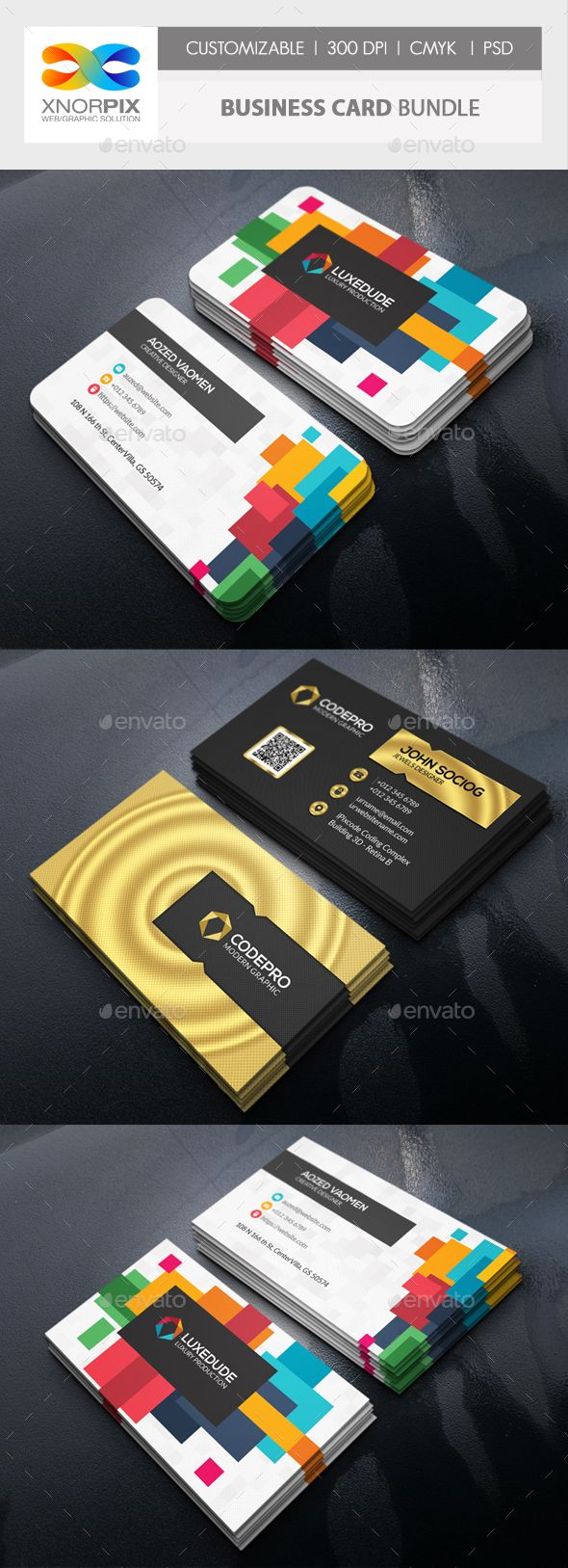 Business Card Bundle Round Business Cards Business Card Design Business Cards Creative