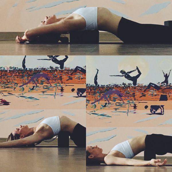 Yin Yoga - Meridians - Block down the spine   Yin yoga ...