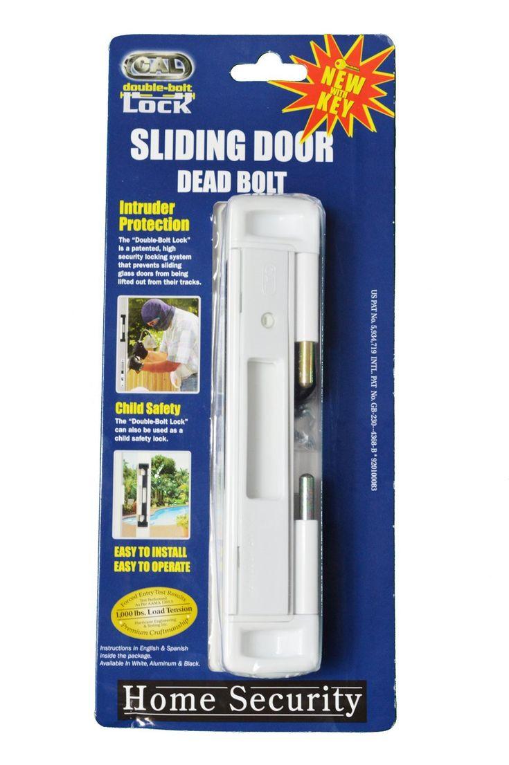 Cal double bolt lock high security for sliding glass