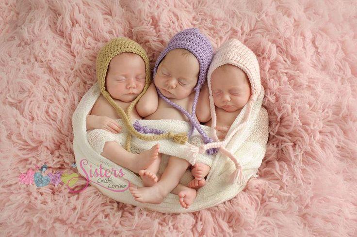 Baby Bonnet - Newborn Hat - Newborn Cap - Crochet Baby Bonnet - Crochet Baby Cap - Crochet Newborn Hat - Custom Color - Baby Shower Gift