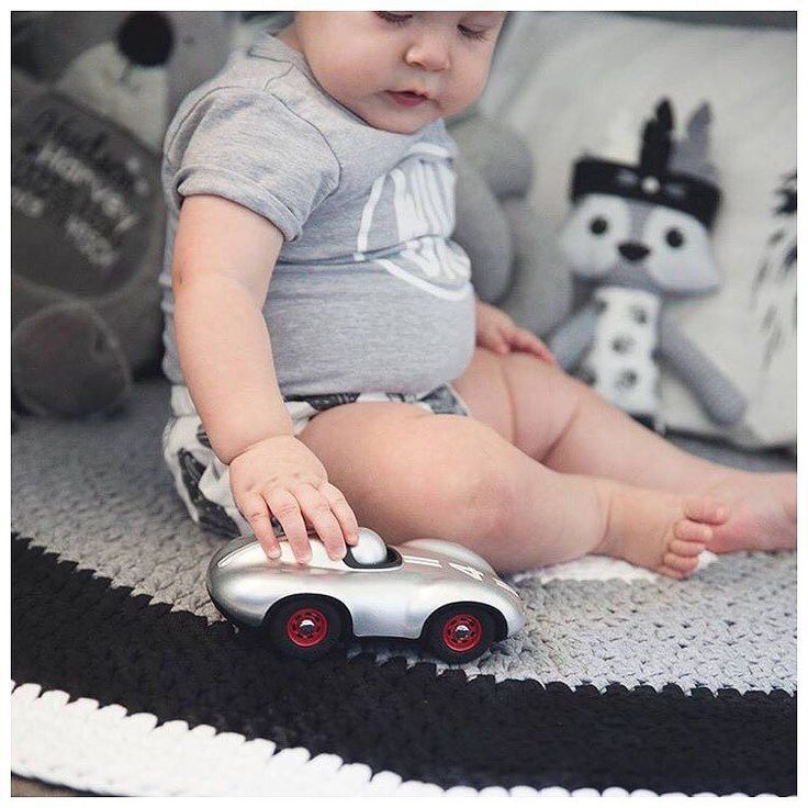 """Turns out Australia Post are having an extended Xmas break so why not extend our Boxing Day sale - take 30% off storewide with code: STYLISHKIDS until Friday!Gorgeous @huddynspence with one of the Playforever """"mini"""" cars we have in store. Perfect first car for your little one!"""