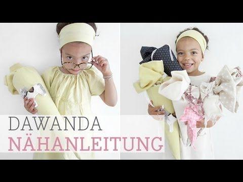 DaWanda Nähanleitung: Schultüte nähen - YouTube