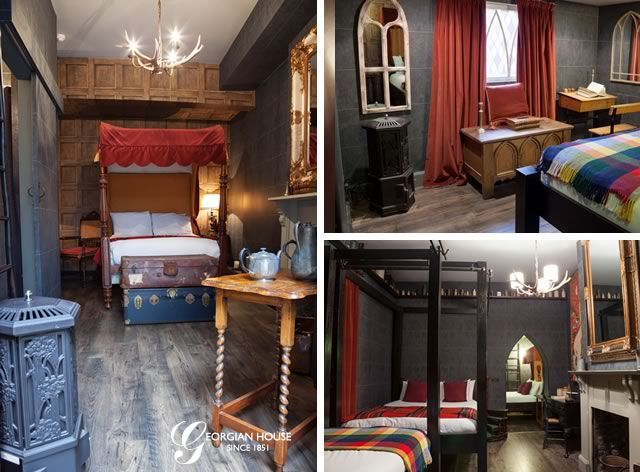 A HARRY POTTER HOTEL! For all you HP nerds, how cool would this be?! It's a replica of the Gryffindor dormitories in the UK that you can actually stay in!