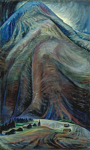 The Mountain 1933  oil on canvas