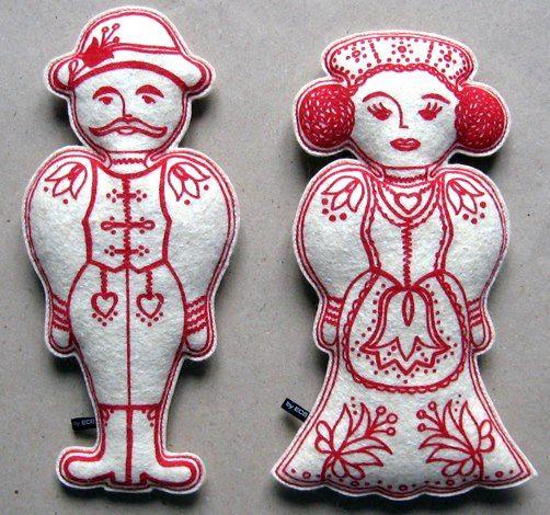 Ihajka-Csuhajka textile dolls by Erika Csegöldi http://www.magma.hu/muveszek.php?id=42