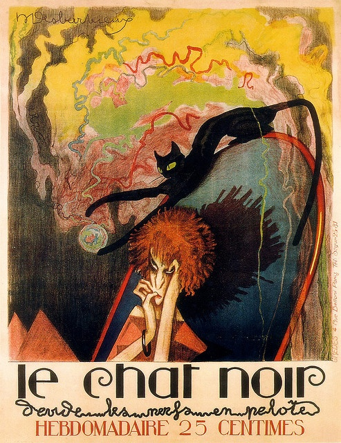 le Chat Noir Hebdomadaire - the Black Cat Weekly | M. Desbarbieux I want this as a print for my lounge
