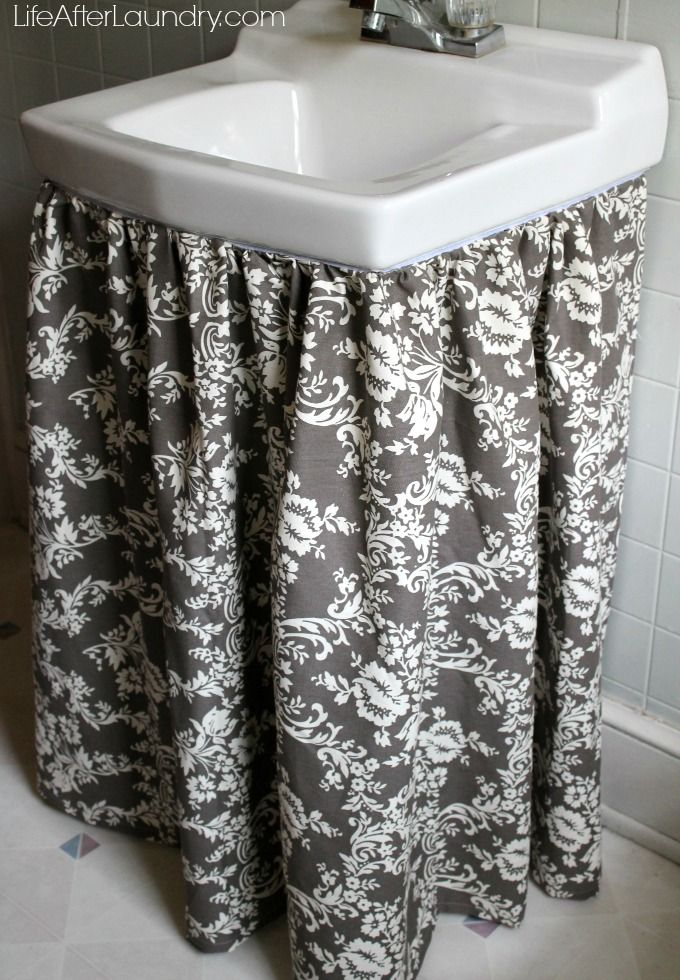 sink skirt with Riley Blake Home Decor fabric