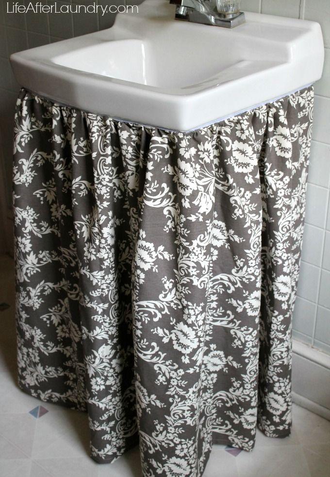 sink skirt with Riley Blake Home Decor fabric