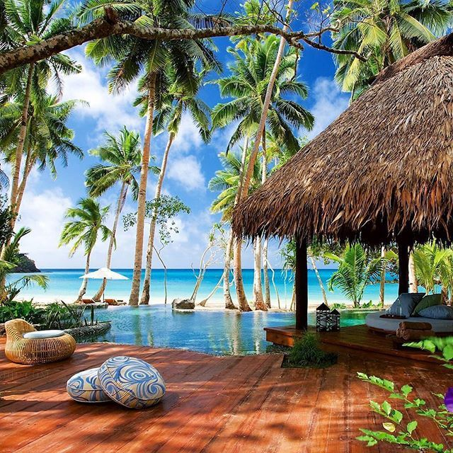 Laucala Island Fiji  .  Via @beautiful.travelpix                                                                                                                                                                                 More