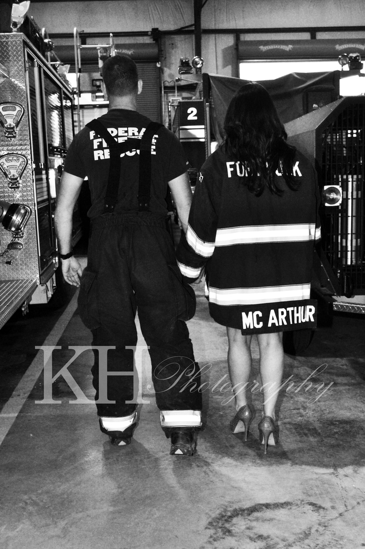A sweet couple [my best friend and her hubby to be] that I did engagement pictures for! He is a firefighter [shocker] and I just loved the environment. It was so..... real!