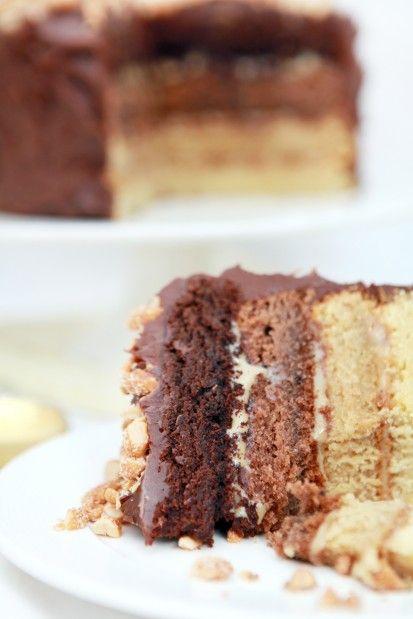 Tort Czekoladowo - Karmelowy Ombre 3