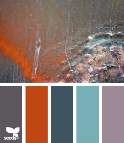 patina color.  interesting.  i would never have put that purple with the orange and blues.