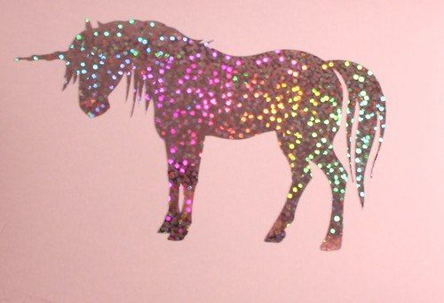 Birth of a unicorn. Unicorns come from sparkles and rainbows.