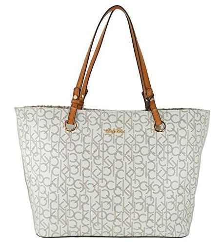 Women's Cross-Body Handbags - Calvin Klein Handbag CK Coated Canvas Signature Tote * For more information, visit image link.