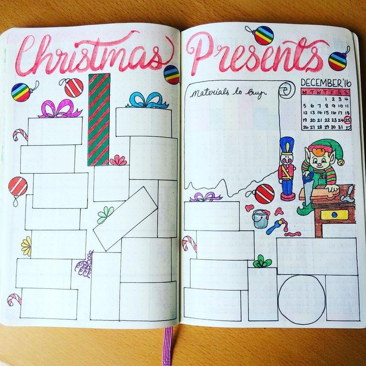 Christmas presents list bujo inspiration