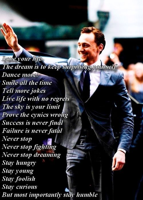 Here Are Tom's Orders! | Community Post: This Post Will Destroy Your Life - Tom Hiddleston