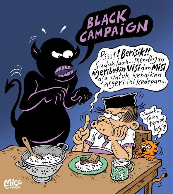 Mice Cartoon, Rakyat Merdeka: Black Campaign