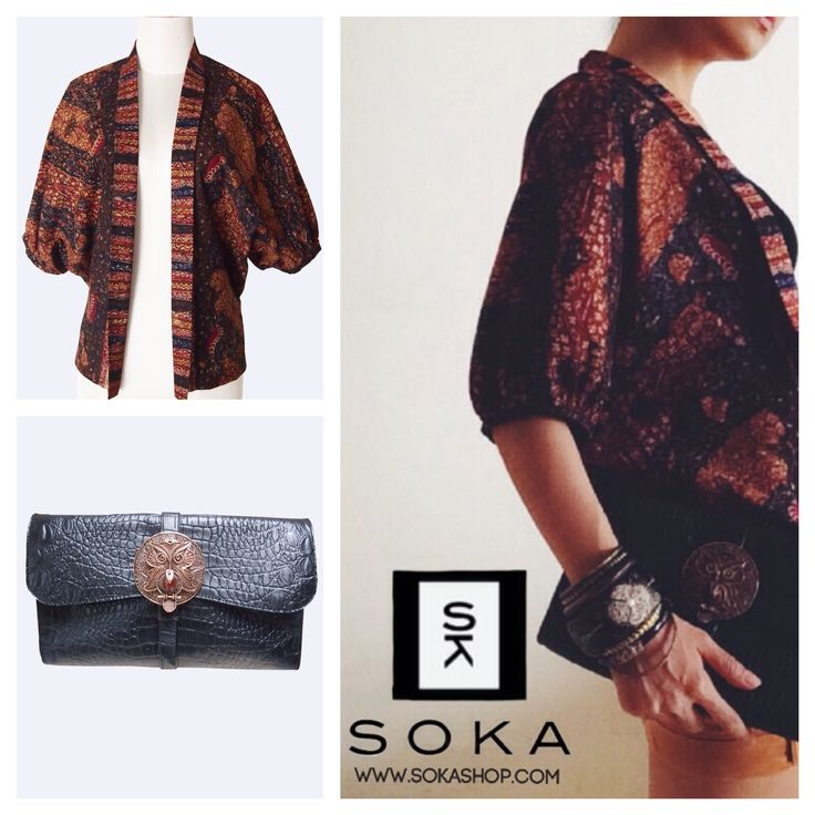 Brown hand drawn batik bolero jacket. The material is from cotton and 100% authentic made by hand drawn batik technique. See our blog related hand drawn batik if you need more information about it.