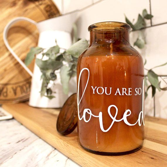 You are so loved - quote candle - $22 from kargow.com