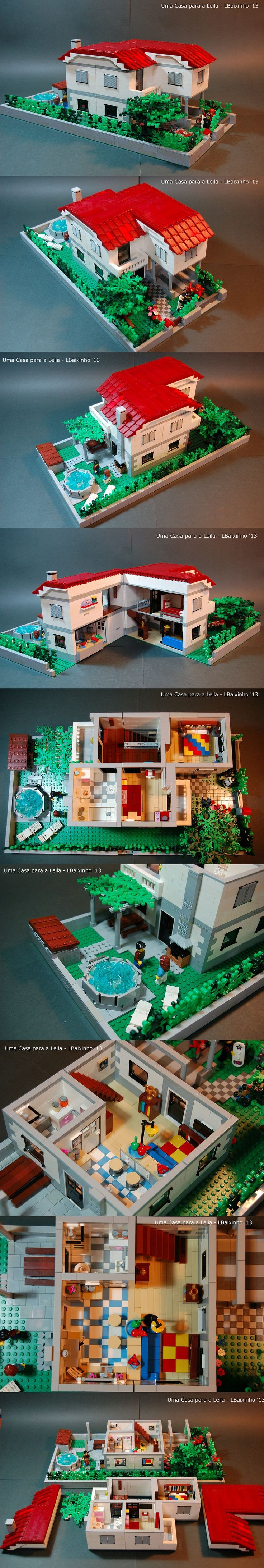 Uma Casa para a Leila (An House to Leila) is a MOC that I made to my daughter. She decided what she wanted while I was building. | Follow me on G+: https://plus.google.com/u/0/111240276908724507776/posts