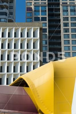 Skyscrapers Close together Windows Marquee. - Stock Photo | by downundershooter