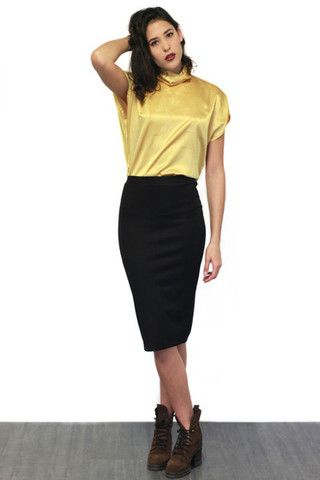 Tight black skirt The Darling - available at Poppy's Parade