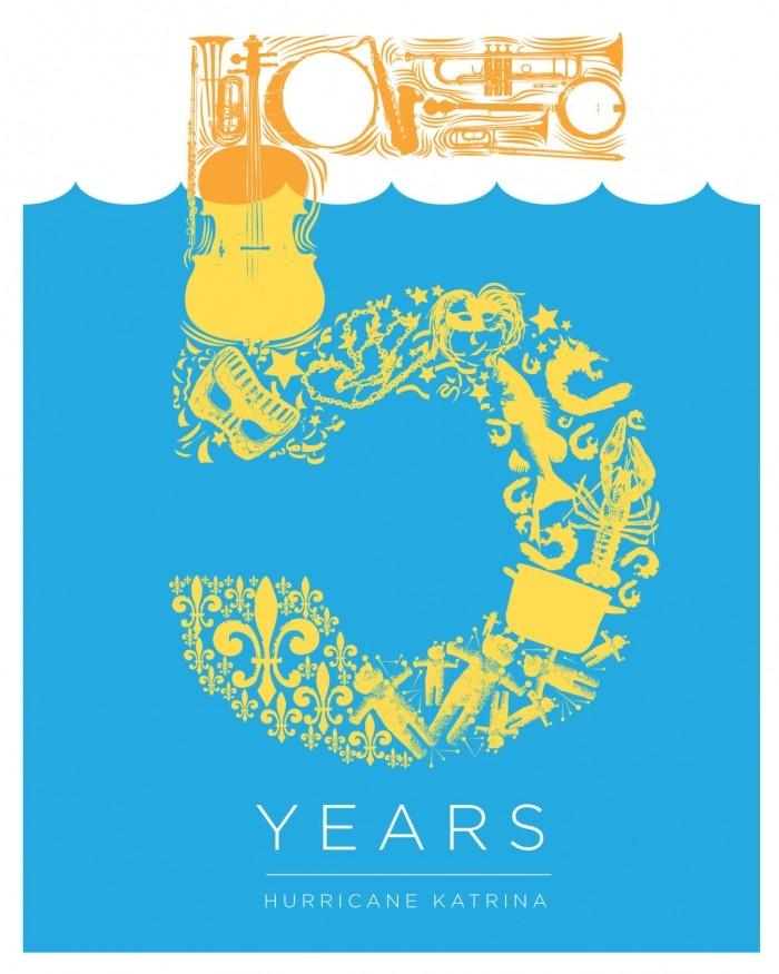 Hurricane Katrina 5 Year Anniversary Logo