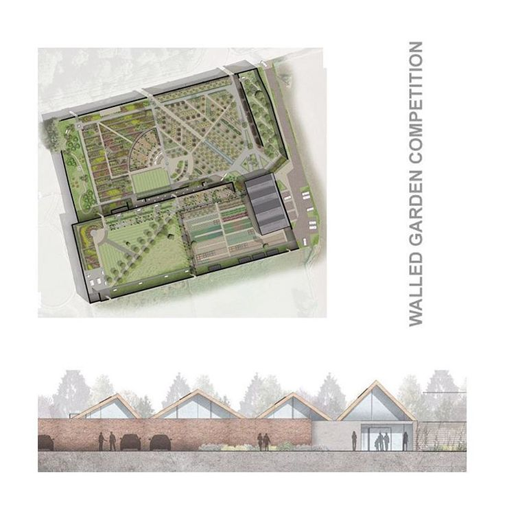 JMA Walled Garden Academy. Competition entry in an historic setting, Redcar