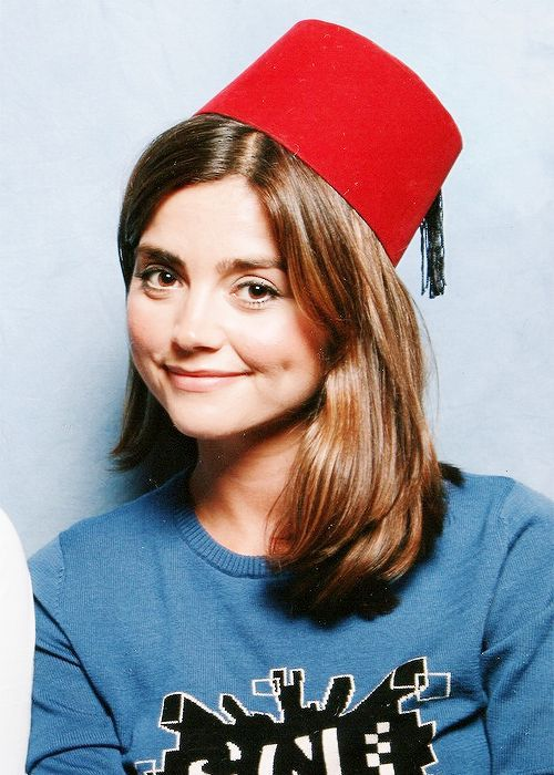 Clara secretly thinks that fezzes are cool, and steals them from the doctor and wears them when he's not around.