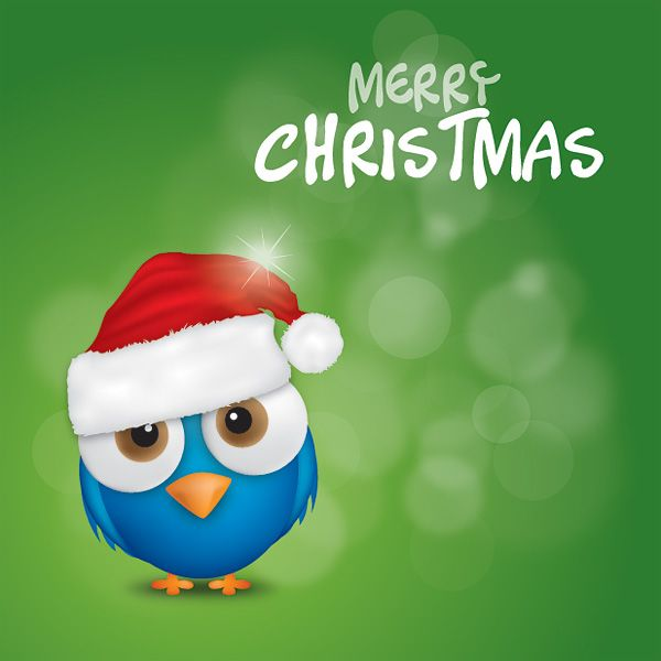 Merry Christmas Bird Vector Graphic   Cool Website Too