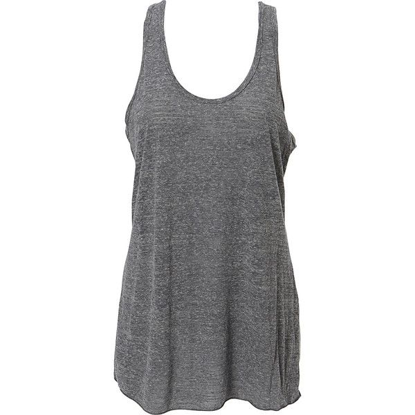 Simplex Triblend Slub Womens Racerback Tank - XS - Charcoal Grey -... (£19) ❤ liked on Polyvore featuring tops, tank tops, tanks, shirts, grey, gray top, racerback tank tops, grey top, gray tank top and racer back tank