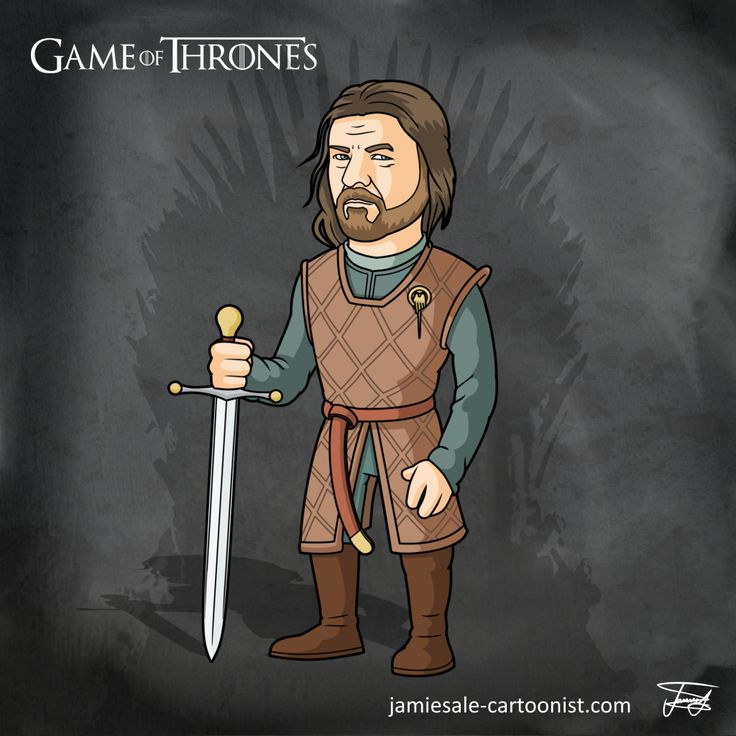 Ned Stark Game of Thrones Cartoon Character