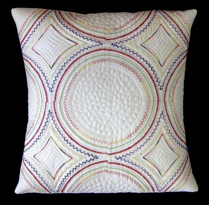 Beautiful Quilt Embellishments - Machine Stitched Pillow from Carol Ann Waugh's Stupendous Stitching Craftsy class