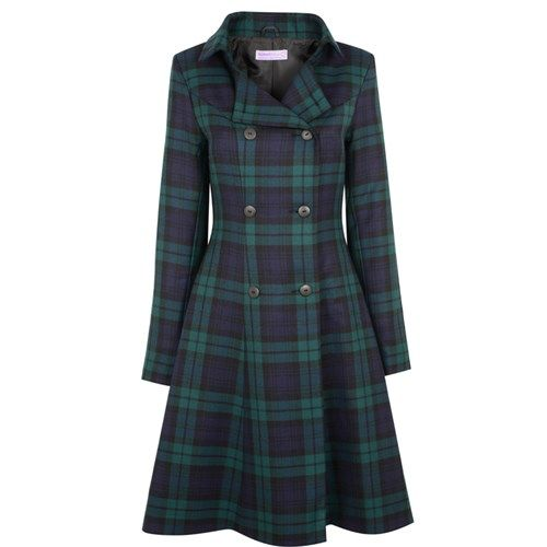 Man, I wish I looked good in the Kate coat, because these people make it to order in your family tartan. *drool*