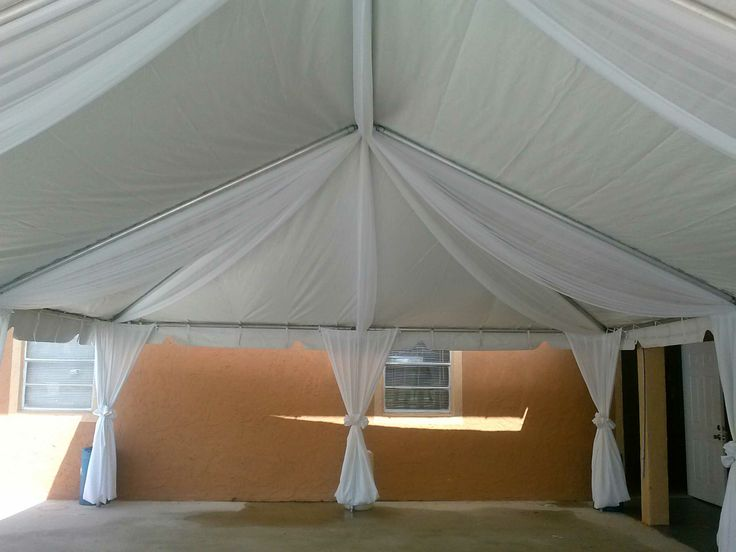 A 20 X 30 Frame Tent With White Drapes Tents Pinterest