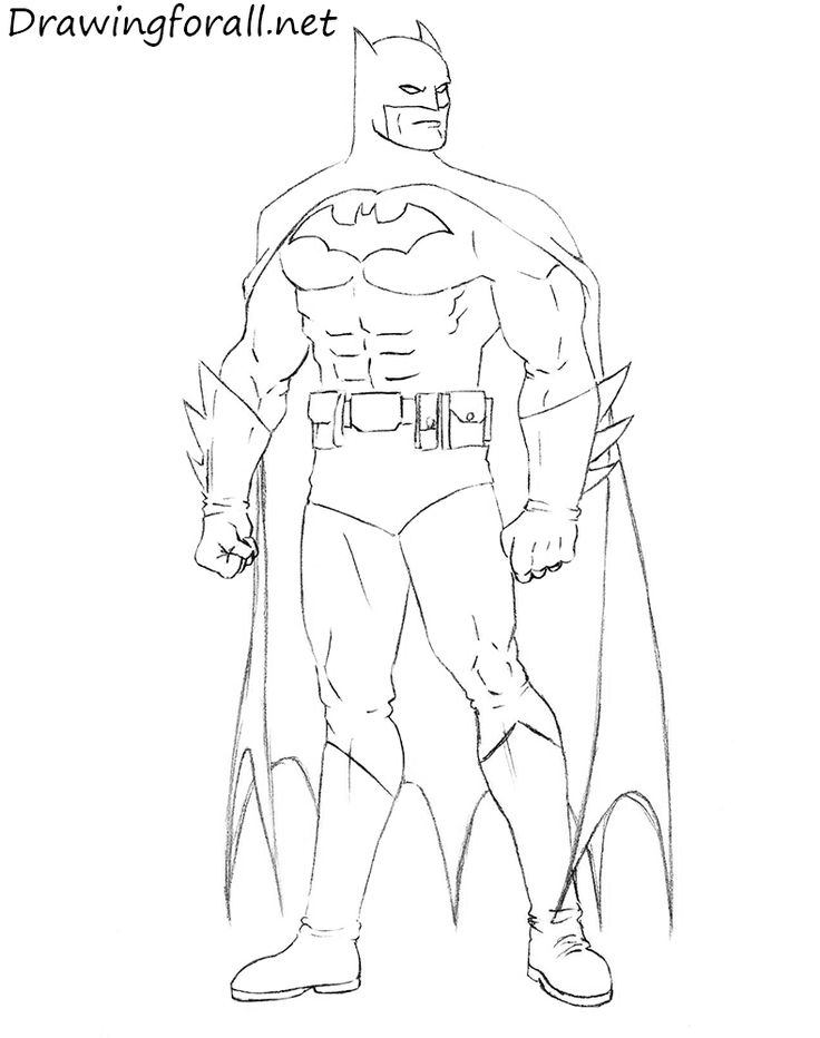 How to Draw Batman Step by Step | Drawingforall.net