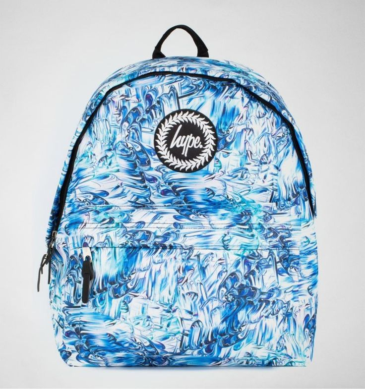 Hype Enamel Backpack Blue Multi. A unique design from Hype that is sure to make your outfit stand out from the crowd.
