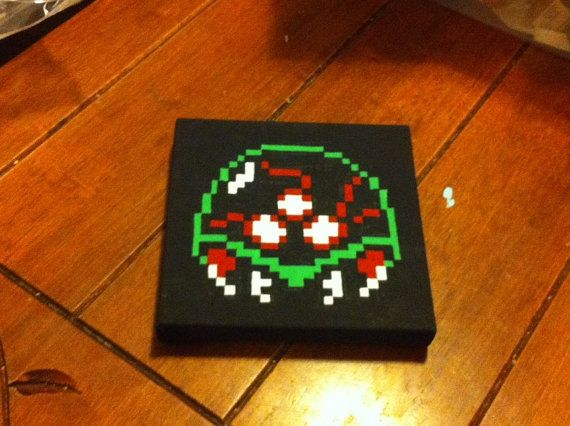 Metroid NES Nintendo 6x6 Painting by KaterineArts on Etsy, $25.00