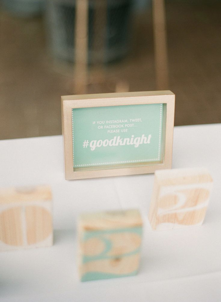 Having a unique hashtag for your wedding will guarantee that all your pictures are easily accessible.