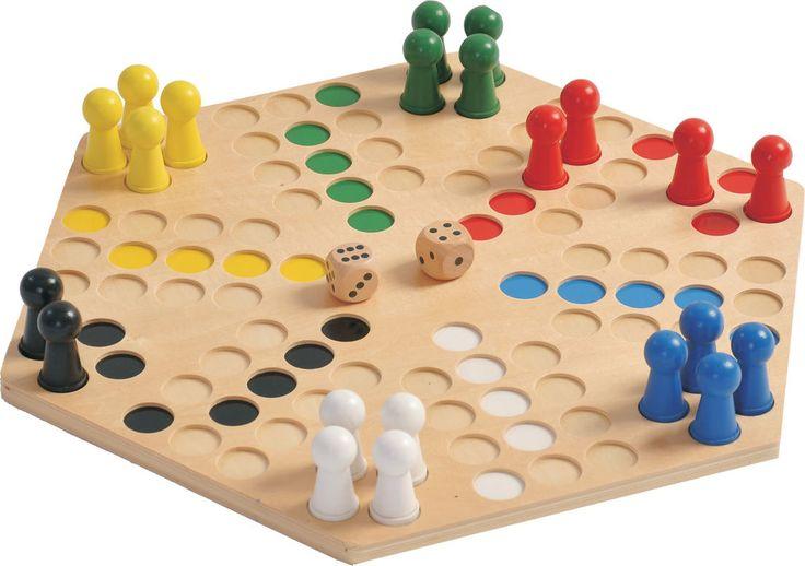 Ludo 6er Mühle Spiel Holzspiel groß Mensch ärgere dich nicht