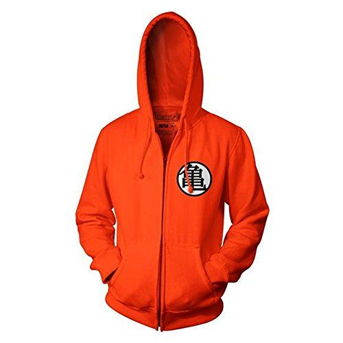 Amazon.com: dragon ball z kame symbol orange zip up adult hoodie medium