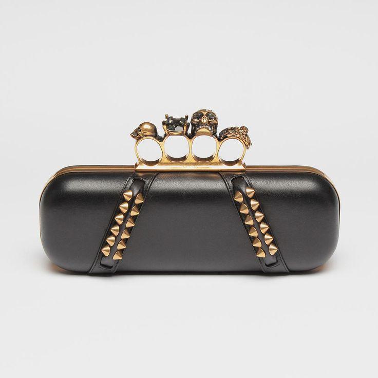 ALEXANDER McQUEEN Knuckle Box Clutch Bag