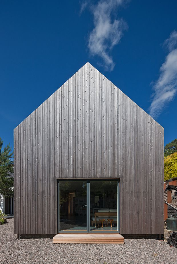 Scandinavia style vertically laid timber cladding