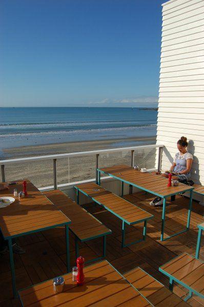 Maranui Cafe at Maranui Surf Life Saving Club, Lyall Bay, Wellington.