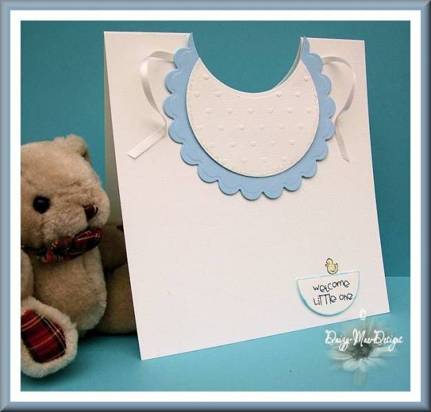Baby's bib card by Daizy-Mae - Cards and Paper Crafts at SplitcoaststampersBaby'S Bibs, Cards Ideas, Baby Cards, Papercraft Ideas, Cards Baby, Baby Bibs, Bibs Cards, Paper Crafts, Baby Shower