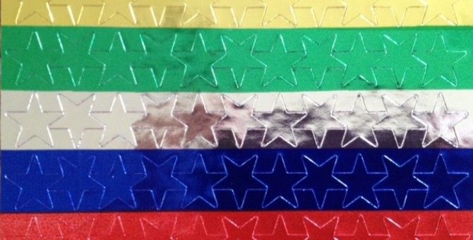 "Avery Self Adhesive Assorted Color 1/2"" Foil Stars Review"